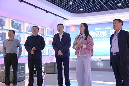 小纪镇党委书记李向阳携中电建有关领导一行来我公司参观指导