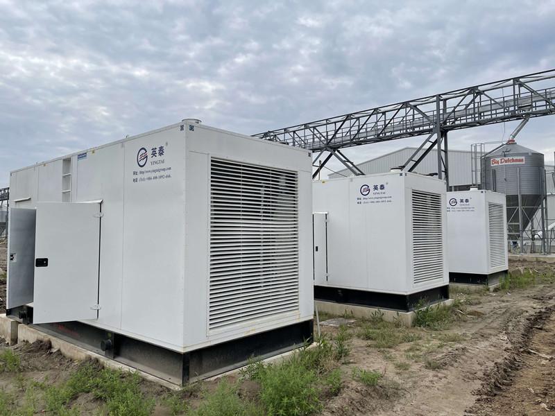 上海崇明岛正大蛋鸡场720KW/1350KW并网柴油发电机组项目现场